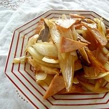 玉ねぎと椎茸の焼き肉のたれ炒め