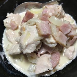 ささみのクリーム煮