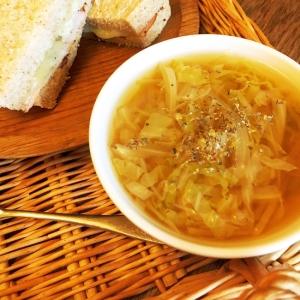 すぐ出来る♪白菜と玉ねぎのあっさり和風スープ