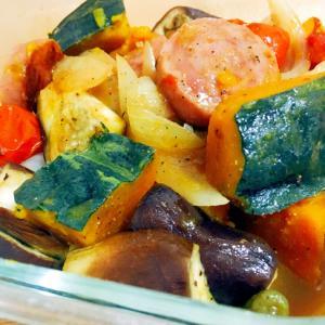 スパイスおかず★夏野菜のスパイス蒸し