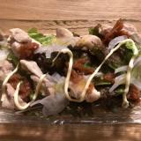 蒸し鶏と野菜の梅サラダ