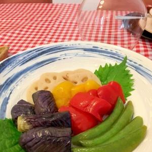 彩り野菜の揚げマリネ