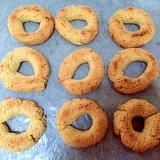 大豆粉の焼きドーナツ
