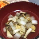 大根としめじの中華風スープ