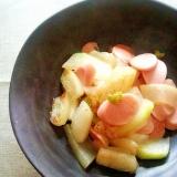 簡単♪冬瓜と魚肉ソーセージのオイスター炒め