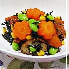お弁当のおかず★ひじきの5色煮