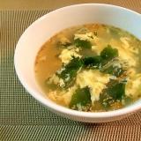 Chinese☆卵とワカメの中華スープ