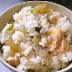 ふきとわらびの炊込みご飯