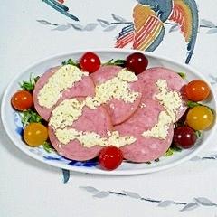 豆苗とポークソーセージのサラダ~♪