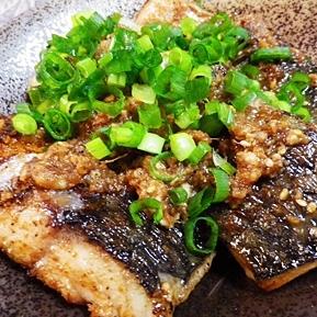 鯖のゴマ醤油焼き