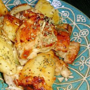 フライパンで簡単☆チキンとじゃがいものチーズ焼き
