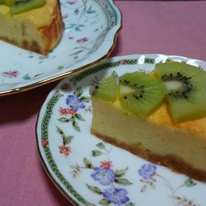 おもてなしに♪キウイのせチーズケーキ☆
