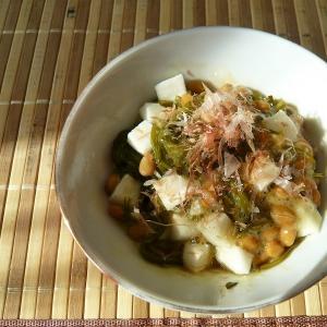 納豆と長芋とめかぶ和え