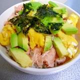 レンジで簡単★鮭とアボカドのちらし寿司