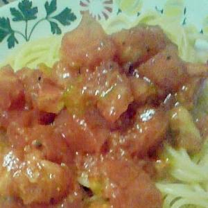 あっさりトマトスパゲティー