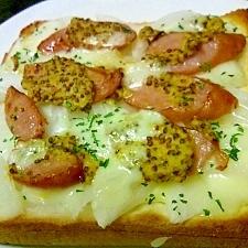 遅く起きた朝に。玉ねぎのダブルチーズトースト