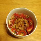 ミニトマトと納豆のおかか和え