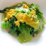 包丁を使わずに☆レタス外葉の簡単美味しい卵炒め