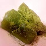片栗粉で抹茶わらびもち