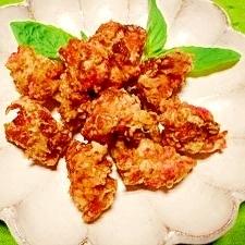 鶏胸肉☆紅生姜と青海苔揚げ
