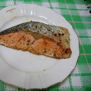 鮭のバジルオイル漬け
