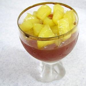 煮リンゴがけ紅茶寒天