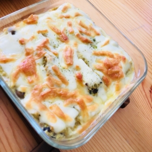 鯖豆腐グラタン