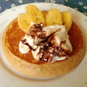ココアホットケーキ アイス&バナナトッピング