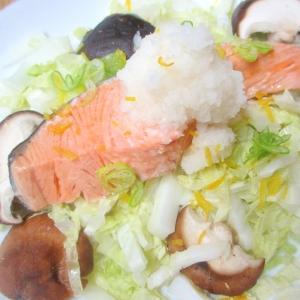 鮭と白菜のレンジ蒸し
