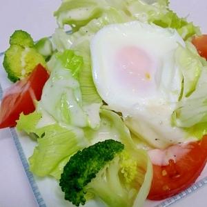 グリーンサラダ♪半熟卵のせ