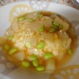 冬瓜と枝豆のあんかけチャーハン