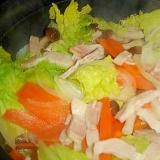 ベーコンと白菜の重ね蒸し