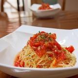トマトの冷製カッペリーニ