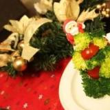 ポテトサラダのクリスマスツリー(*^o^*)