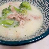 子供が喜ぶ(^^)豚肉とブロッコリーの豆乳スープ♪
