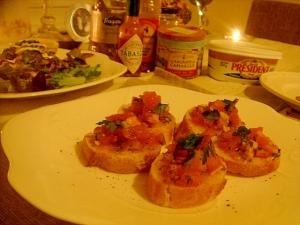 パーティにも!幸せトマトのブルスケッタ。