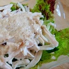 鶏ハムde蒸し鶏風サラダ