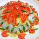 ひな祭り♡子供と一緒に作る♡お寿司ケーキ♡