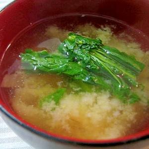 彩り鮮やか☆菜の花のお味噌汁