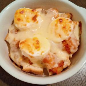 じゃがいも&食パン&ゆで卵のチーズミート焼き