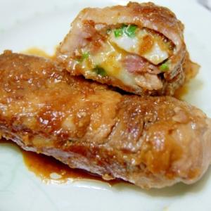 里芋とネギが入った◎豚チーズロール