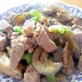 ∝牛肉とシカクマメ茄子生姜醤油味∝