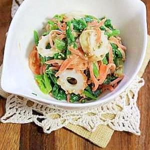 ほうれん草のマヨ味噌サラダ