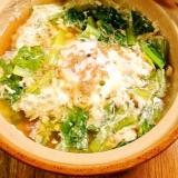 簡単&節約 一人鍋! 小松菜とちりめん汁