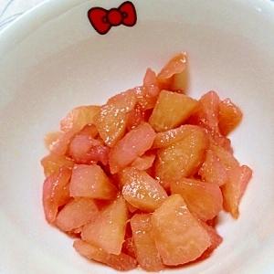 梨の赤紫蘇コンポート