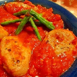 簡単おいしい♪豚ヒレ肉のトマト煮