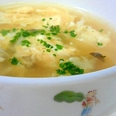 あっという間の しめじと卵のスープ