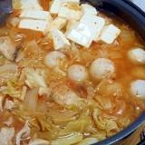 里芋とキャベツのキムチ鍋