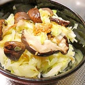 蒸しキャベツと椎茸の醤油麹和え