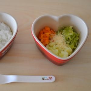 *離乳食後期*3色野菜のチーズ風味